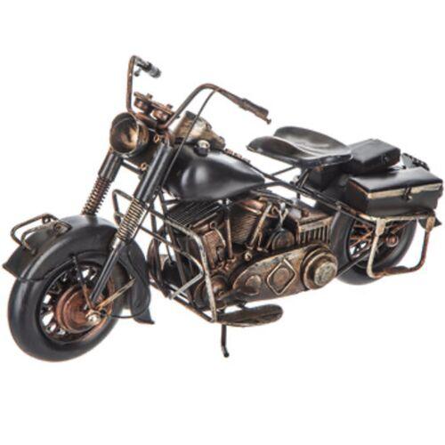 Black Metal Motorcycle Figurine Home Office Man Cave Harley Davidson style