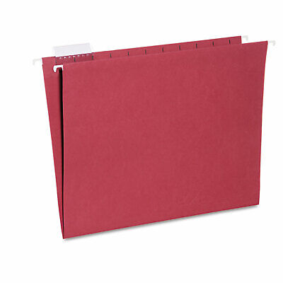 Hanging File Folder Letter Size 15 Cut Top Tabs Red 25box