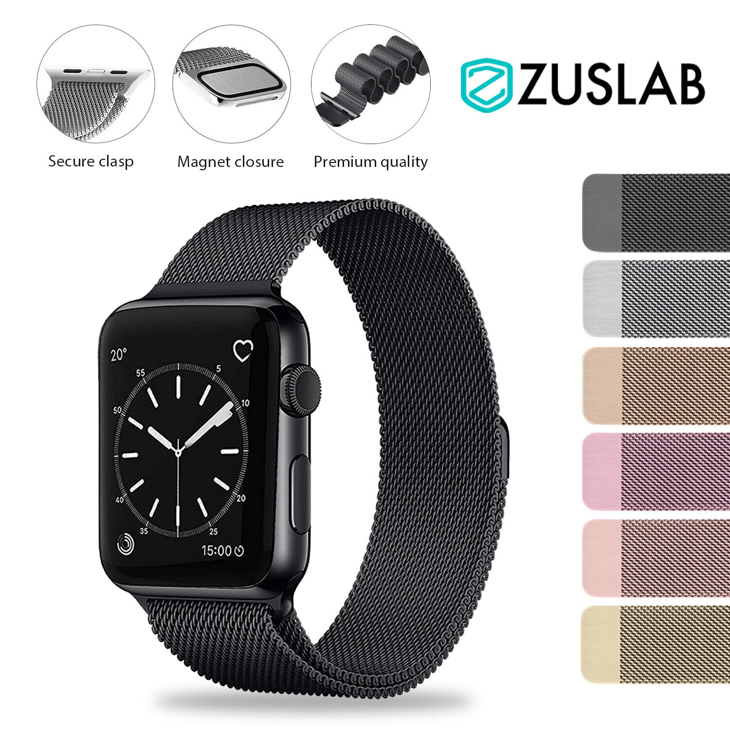 Jewellery - For Apple Watch iWatch Band Series 6 5 4 3 2 1 SE Magnetic Stainless Steel Strap