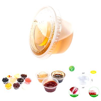 TashiBox Plastic Jello Shot Cups with Lids, 2-Ounce, 200 Set