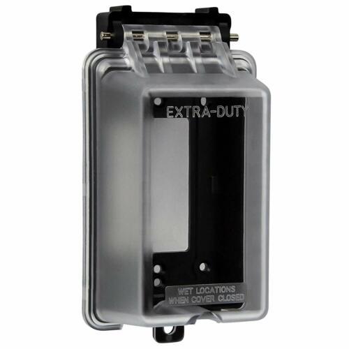 ENERLITES Extra Duty Weatherproof Outdoor Cover for Decorator GFCI Receptacle