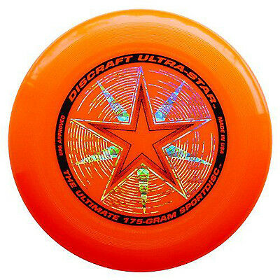 NEW Discraft ULTRA-STAR 175g Ultimate Frisbee Disc - ORANGE - Foam Frisbee