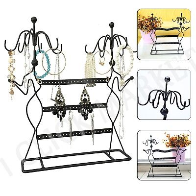(JEWELRY DISPLAY STAND Earring Holder Organizer Necklace Ring Rack Hanger Tree)