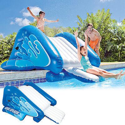 Intex Wasserrutsche für Pool mit Rutsche Kinder Planschbecken Hüpfburg Badeinsel