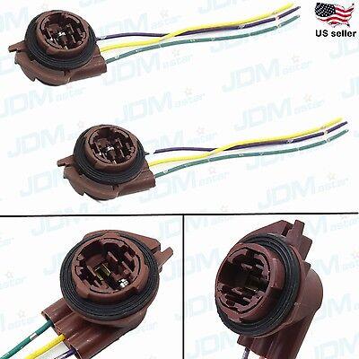 Jdm Astar 3157 4157Na Bulb Socket Turn Signal Light Harness Wire Plug Connectors
