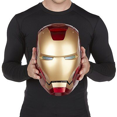 (Iron Man Helmet Adult Marvel Electronic Sound Effects Legends Cosplay 1:1 Mask)
