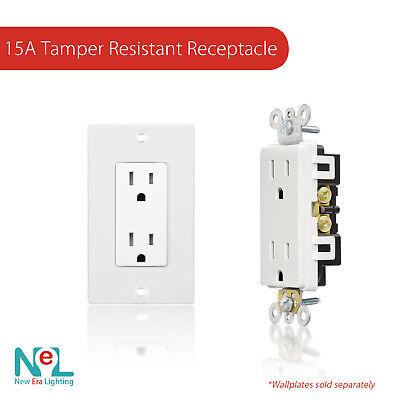 50 Pack, 15A Amp, TR Tamper Resistant, Decora Duplex Receptacle 15a Duplex Receptacle