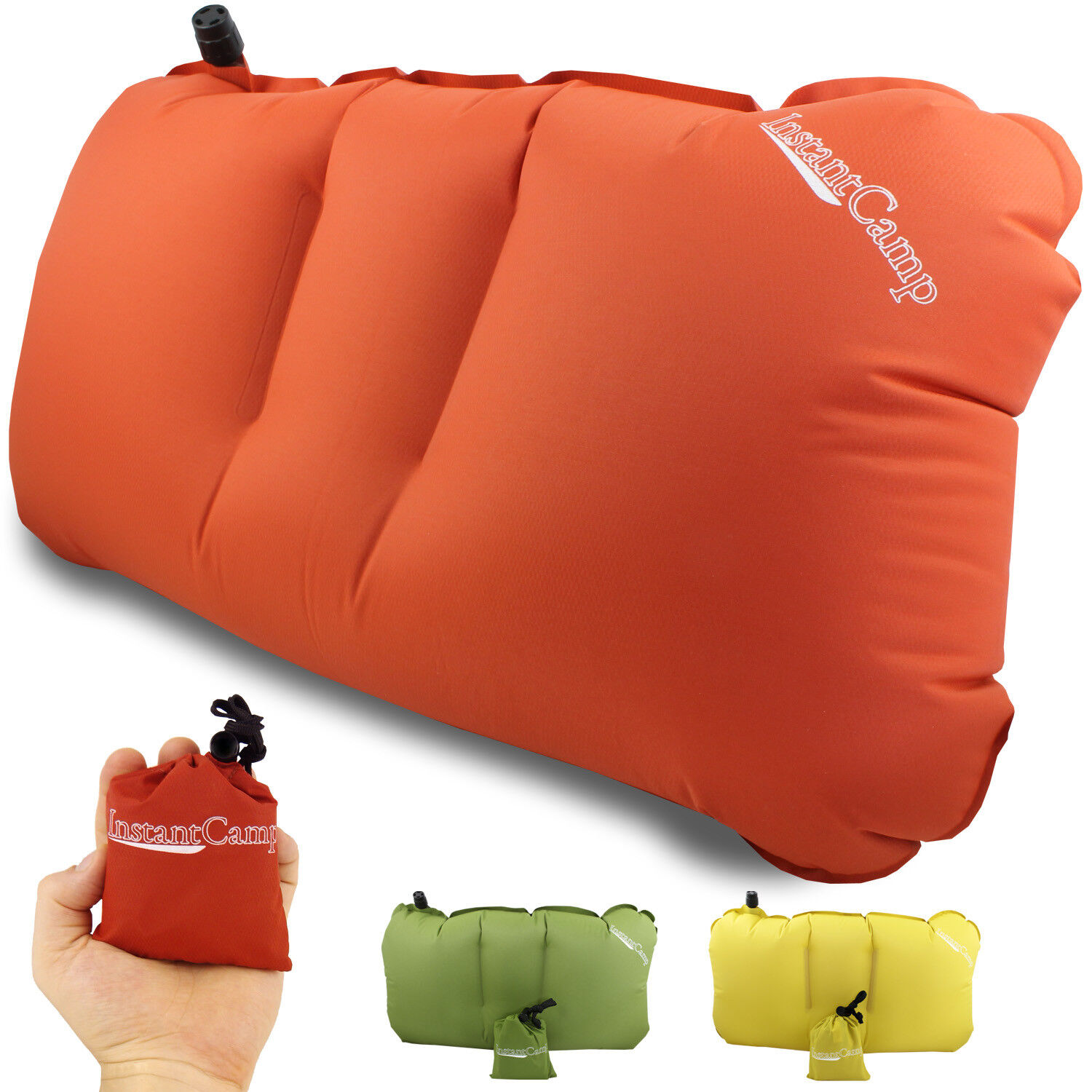 InstantCampTM 2.4 oz Ultralight Backpacking Camping Hiking Pillow - Inflatable