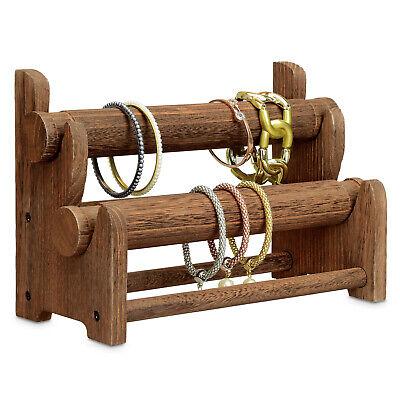 Wooden 2-Tier Bar Bracelet/Bangle Jewelry Holder Stand Display Organ Bangle Jewelry Display Stand