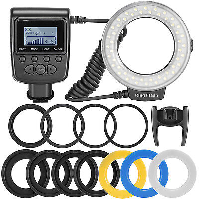 Neewer 48 Macro LED Ring Flash Bundle, LCD Display Power Control for Canon 650D