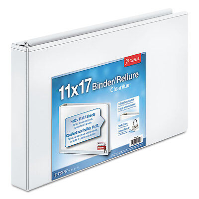 Cardinal 11 X 17 Clearvue Slant-d Ring Binder 1 12 Cap White 22122