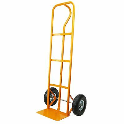 NEW! 600lb Industrial Heavy Duty Hand Trolley Sack Truck Barrow (Yellow)