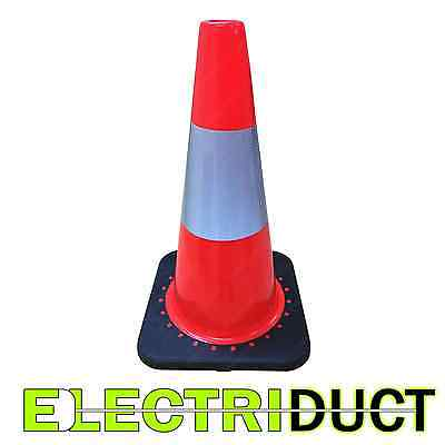 18 Pvc Traffic Cones With Safety Road Reflective Collar 10 Pack Orange Black
