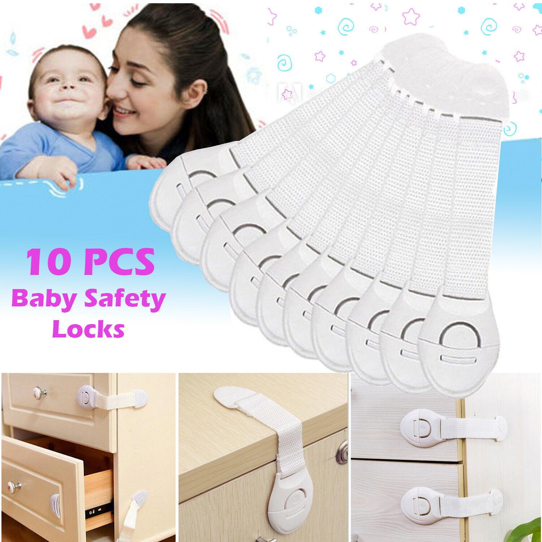 10X Child Baby Cupboard Cabinet Safety Locks Pet Proofing Door Drawer Fridge Kid