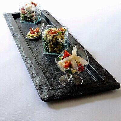 Slate Effect Rectangular Serving Platters for parties and events: Pack of 2](Serving Platters For Parties)