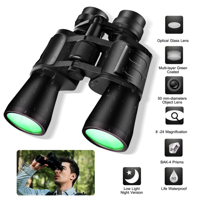 180x100 Hunting Telescope Binoculars Zoom Day Night Vision Sightseeing Traveling
