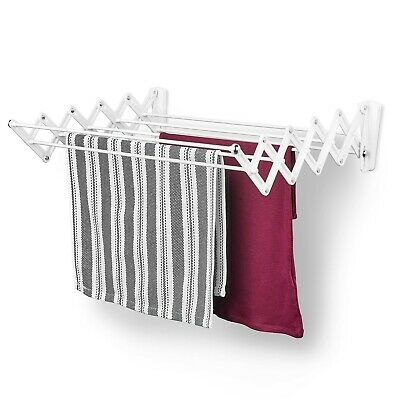 Wet Clothes Drying Rack Indoor Hanging Laundry Wall Mount Portable Folding Dryer