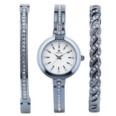 Croton Women's CN207596BLMP Quartz Crystal Accents Blue Brass 26.5mm Watch ()