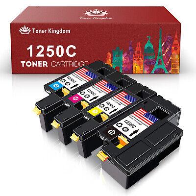 - 4PK Toner Set 1250 Blalck Cyan Magenta Yellow For Dell Color Laser C1760 C1760nw