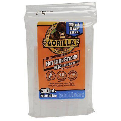 Gorilla Glue 3023003 Hot Glue Sticks 4 In. Mini Size 30 Count