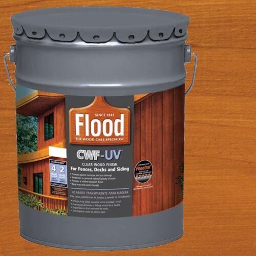 Exterior Wood Finish Cedar Tone 5 Gal UV Oil Based Stain Sealer for Decks Fences
