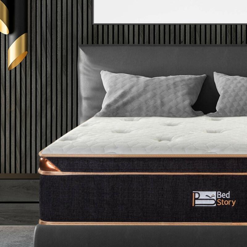 BedStory 12 Inch Gel Infused Memory Foam Hybrid Mattress Pocket Coil Spring Bed