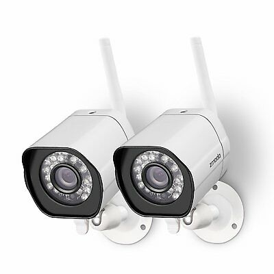 Zmodo 2 1280 720P Hd Ip Network Wireless Outdoor Home Security Camera System