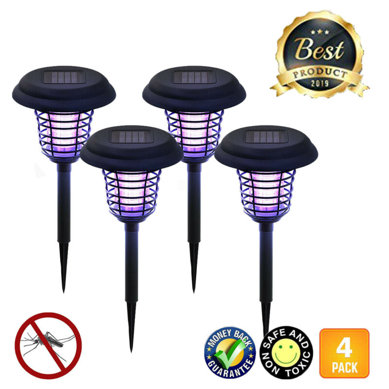 2020 LIGHTSMAX OUTDOOR SOLAR POWERED INSECT BUG ZAPPER