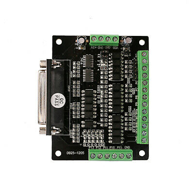 Breakout Board 6axis Interface Board Adapter Milling Stepper Motor Mach3 Cnc Kit