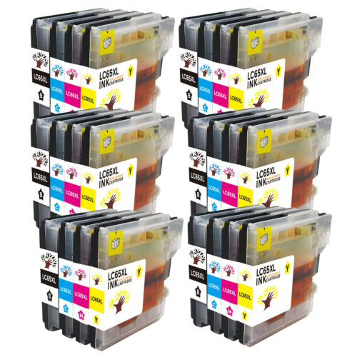 24 High Yield Ink LC61 LC65 For Brother MFC-J615W MFC-290C