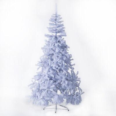 HOMCOM Albero di Natale Artificiale con Supporto in Metallo Bianco Altezza