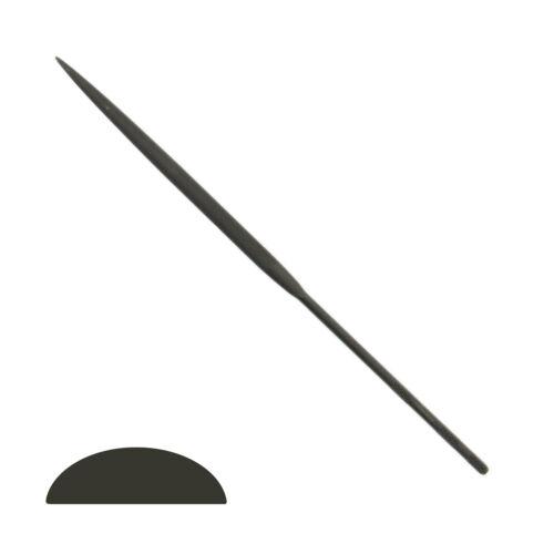 "Grobet Swiss Half Round Needle File 20cm Cut #0 #2 #4 Vallorbe 8"" Best Quality"