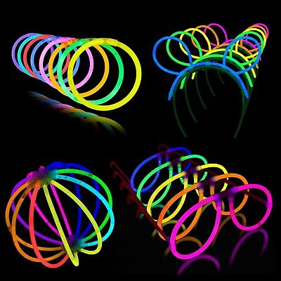 glow sticks 200 piece neon festival party