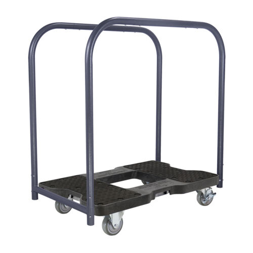 1500 LB INDUSTRIAL STRENGTH PROFESSIONAL E-TRACK PANEL CART DOLLY BLACK