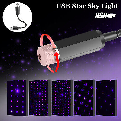 USB Car Interior LED Light Roof Atmosphere Starry Sky Lamp Star Projector Home
