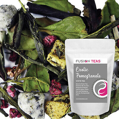 Exotic Pomegranate White/Green Tea with Dragonfruit - Loose Leaf - Fusion Teas Loose White Tea
