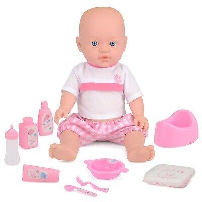 Baby Doll Drink & Wet Kids Lifelike Pretend Play Toy Potty Nappy Bottle ToyStar