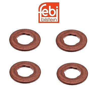 x4 FEBI Copper Sealing Washer 1.55mm For Mercedes Diesel Fuel Injectors