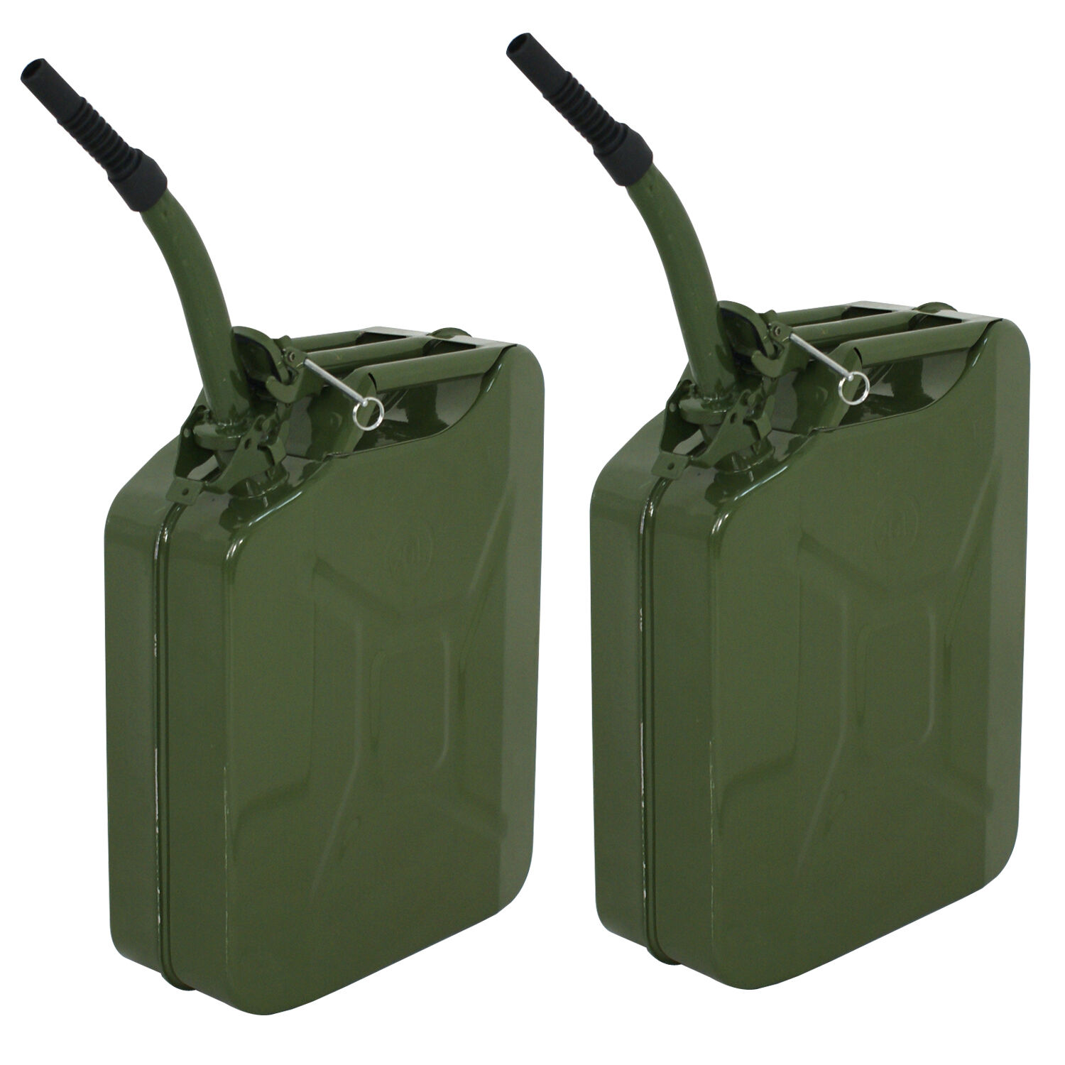 2X Gas Gasoline Jerry Can Fuel Army Army Backup Metal Steel Tank 5 Gallon 20L Business & Industrial