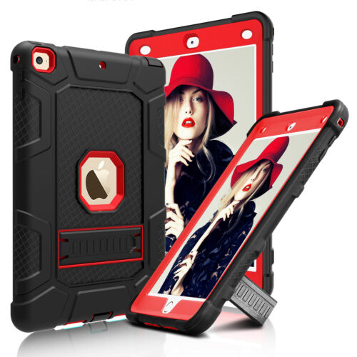 For iPad 6th Generation 9.7'' 2018 Case Shockproof Rugged Hard Armor Stand Cover