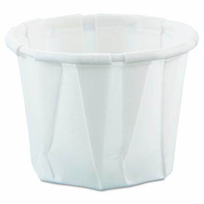 Solo Souffle Cup .5 oz. White Paper pack of 250 #050-2050 - White Solo Cups