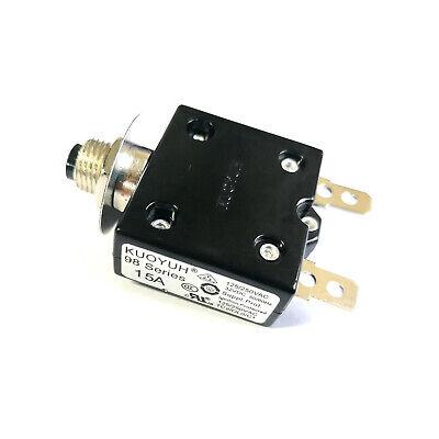 New 15 Amp Push Button Thermal Circuit Breaker 12-50v Dc 125-250v Volt Ac 15a