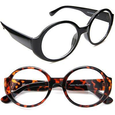 15.2ms Rund Oval Klar Gläser Brille Vintage Retro Dick Rahmen Damen Brille
