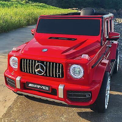 Electric Ride on Toy 12V Mercedes-Benz G63 Kids Licensed Car w/ RC Music Red