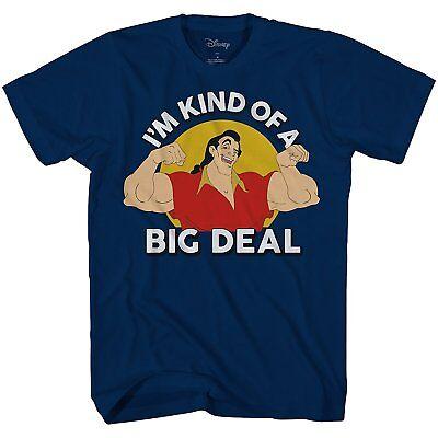 Disney World Disneyland Adult Mens Graphic T-shirt Beauty and The Beast Gaston  - Adult Disney Shirts