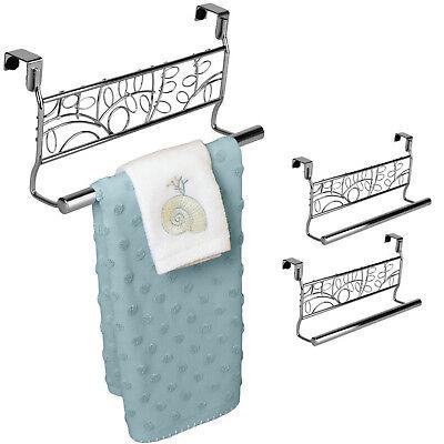 """Set of 2 Over the Cabinet Towel Bar 9"""" Bathroom Kitchen Towel Rack Hanger Holder"""