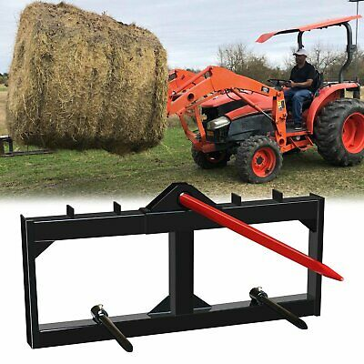 Tractor Hay Spear Attachment 3000 Lb Spike Skid Steer Quick Attach Bobcat 49 In
