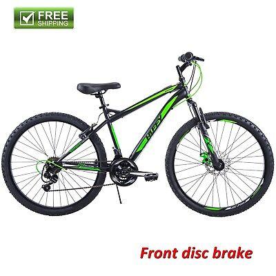 """Huffy Mountain Bike 26"""" Black Front Suspension Men Bicycle Disc Brake Shimano"""
