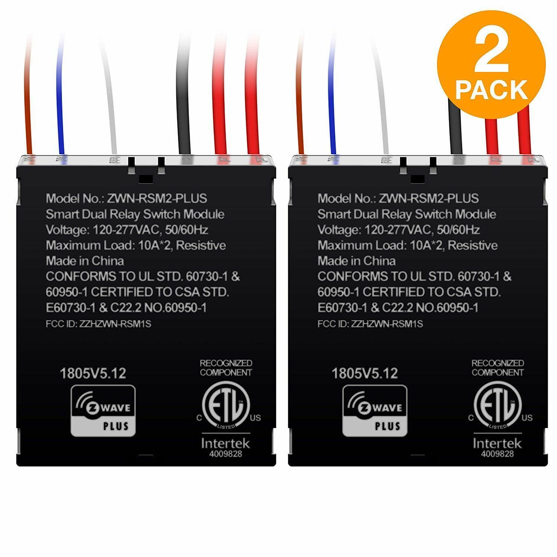как выглядит Enerwave Z-wave Plus Dual Relay Micro Switch Module ZWN RSM2 PLUS 2 Pack фото