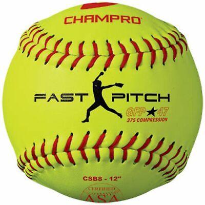 Champro ASA 12 in Fast Pitch Durahide Cover Softball Dozen CSB8